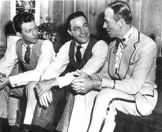 Fred Astaire visits Donald O'Connor and Gene Kelly on the set of Singin' in the Rain.