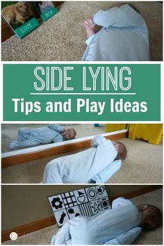 Side Lying Play Tips and Ideas for your baby girl or baby boy.  Play for baby should be on tummy, side and back.  Make baby play fun in side lying! - Pink Oatmeal