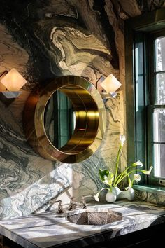 It is imperative to consider the dialogue between natural and ambient light when designing a space. Lighting creates mood, ambience and visual temperature of a room. Dream Mansion, Bath Recipes, Decorating Small Spaces, Bath Decor, Beautiful Bathrooms, Bathroom Interior Design, Rustic Design, Bathroom Inspiration, Interior Styling