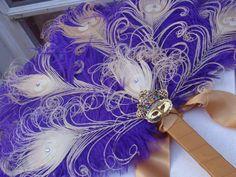 bridal feather fan. so pretty!