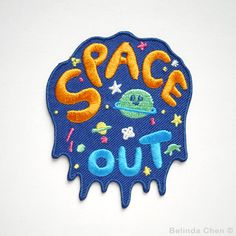 Space Out Iron On Patch (6.50 GBP) by BelsArt