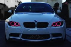 Love the white bmw AND hello! Pink headlights!