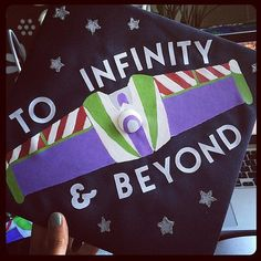 DIY cap decoration ideas for graduates; How to decorate graduation caps; Toy Story, Up, Finding Nemo, the Incredibles and more. Disney Graduation Cap, Graduation Cap Designs, Graduation Cap Decoration, High School Graduation, College Graduation, Graduation Gifts, Graduation Ideas, Graduation 2015, Graduate School