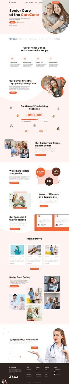Ui Inspiration, Website Design Inspiration, Elderly Care, Corporate Design, Behance, Ui Design, Medical, Adobe Xd, Digital