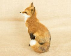 Jake the Red Fox Needle felted animal sculpture by TheWoolenWagon