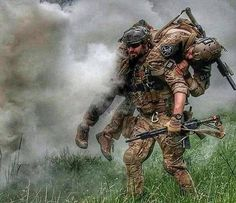 """He's not heavy, he's my brother."" Tag your battle brother! - Via @militaryforce"