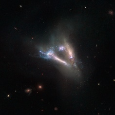 IC 2184 : rencontre de 2 galaxies photographiées par Hubble