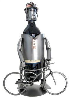Wine Racks - Mountain Bike Wine Bottle Holder HK Steel Sculpture 6754LI -- Learn more by visiting the image link.