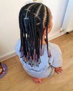 Lil Girl Braid Styles, Cornrow Styles For Little Girls, Braid Styles For Kids, Little Girl Braids, Braids For Kids, Girls Braids, Curly Hair Styles, Lil Black Girl Hairstyles, Natural Kids Hairstyles