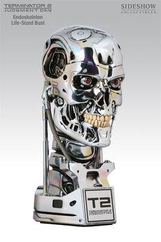 Terminator 2 Life Size Endoskeleton Bust