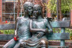 The Secret Bench Monument Montreal, The Secret, Garden Sculpture, Buddha, Bench, Outdoor Decor, Wall, Statues, Sculptures