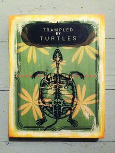 trampled by turtles - music posters - graphic design - art block - wood art - wood block - bluegrass art - folk art - art and collectibles
