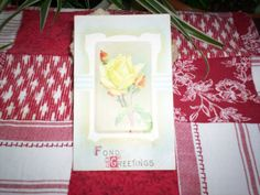 1912 Fond Greetings Postcard by TheBohemianCottage on Etsy, $1.50