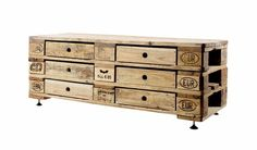 Good wood - recycled shipping palette chest of drawers by Kinidori