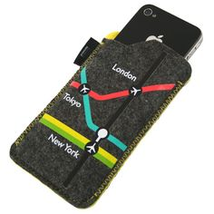 #Personalised Felt iPhone #Covers. Includes a practical credit/bank card slot in the back. From £1.20.