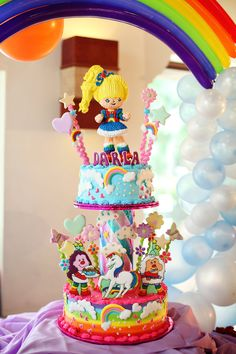 rainbow brite cake - even as an adult I want this cake!