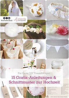 15 kostenlose Näh- und Bastelanleitungen für deine Traumhochzeit via blog.bernina.com #meineBERNINA