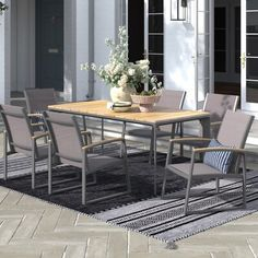 Dining Furniture, Outdoor Furniture Sets, Dining Chairs, 3 Piece Dining Set, Dining Room Sets, Outdoor Dining Set, Outdoor Decor, Wooden Tables, Joss And Main