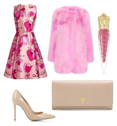 """#pink #nude"" by duruilkinkarabas on Polyvore featuring moda, Gucci, Oscar de la Renta, Gianvito Rossi, Prada ve Christian Louboutin"