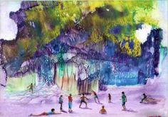 "Saatchi Art Artist Jola Mroszczyk; Painting, ""Waterfall"" #art"