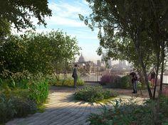 Design Hub - блог о дизайне интерьера и архитектуре: Мост-сад в Лондоне