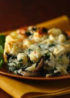 Three Cheese Spinach and Pasta Bake