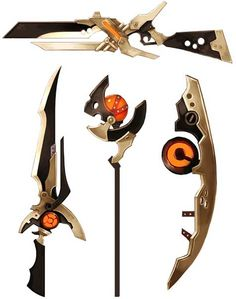Anime Weapons, Sci Fi Weapons, Weapon Concept Art, Prop Design, Game Design, Rwby, Character Concept, Character Design, Sword Design