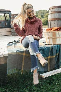 Charleston Cuddles Chenille Sweater in Rustic Rose Moda De Invierno 7859d4361df