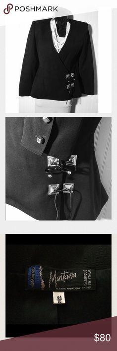 Claude Montana - Vintage Black Blazer w/tassel Claude Montana Paris Vintage Black Blazer with leather tassel, 1980's made in Italy - Great detail on blazer-must see photo Claude Montana Jackets & Coats Blazers