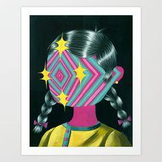 Beautiful Dreamer Luna Art Print by charles glaubitz - $20.00