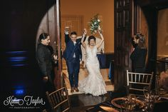 Newly-weds are welcomed into the reception. Toronto Ontario wedding photography.
