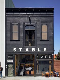 store front old west style The Stable Cafe | Malcolm Davis Architecture Photo: Bruce Damonte via Remodelista