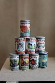 doll-sized cans tutorial - On this page are a lot of other good things to make for your American Girl Doll
