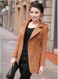 Amazing Korean Large Size Long Sleeve Woolen Trench Coats