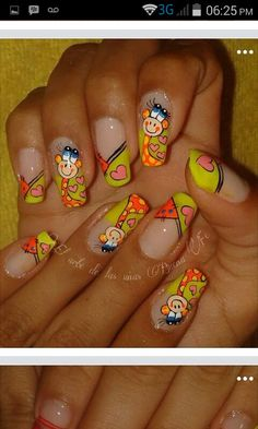 From general topics to more of what you would expect to find here, nail-art-stickers. Cute Nail Art, Nail Art Hacks, Creative Nails, French Nails, Nail Arts, Toe Nails, Acrylic Nails, Eye Makeup, Finger
