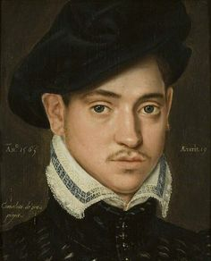 Portrait of an Unknown Young Man (aged 19) by Cornelis de Zeeuw, 1565, Bristol Museum and Art Gallery (via BBC Ypur Paintings).