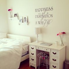 Bedroom For Teenage Girls Tumblr room with quote