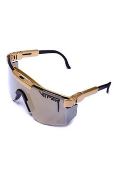 4cd5fc552c The Gold Standards Gold Double Wide Pit Viper Sunglasses
