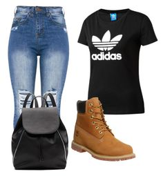"""""""Bday outfit"""" by robynique-patton on Polyvore featuring adidas Originals, Timberland and Witchery"""