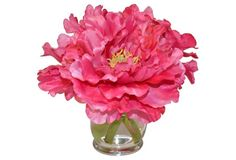 """10"""" Peonies in Hourglass, Faux"""