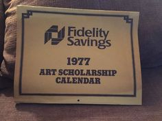 1977 Fidelity Savings Northern And Central California Art Scholarship Calendar Central California, California Art, Vintage Artwork, Artwork Prints, Calendar, Ebay, Vintage Graphic