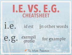 I.E. vs. E.G.: How to Keep Them Straight