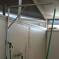 wash stall hose arm - $129.95 Horse Barn Plans, Horse Barns, Horse Tack, Horse Stalls, Horse Grooming Supplies, Shed Floor Plans, Wood Storage Sheds, Washing Windows, Tallit
