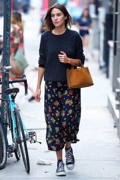 Alexa Chung is you typical hipster celeb. We love her combination of girly and laid back wear. | Cool Hipster Outfits to Rock Out In