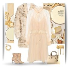 """""""Creamy and Golden"""" by gagenna ❤ liked on Polyvore featuring Better Homes and Gardens, Alice + Olivia, Chloé, Alexander White, MICHAEL Michael Kors, Chanel, Thirstystone, vintage, michaelkors and neutrals"""