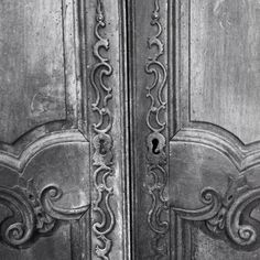 Beautifully bashed up French armoire doors / old circa 1850 / frenchfinds.co.uk