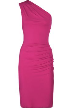 Michael Kors One-shoulder stretch-jersey dress - 60% Off Now at THE OUTNET