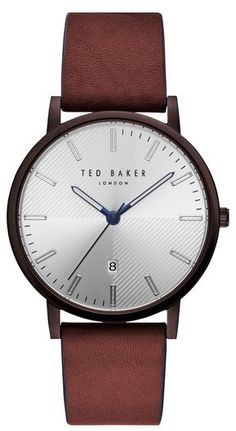 65a142c903 Ted Baker Dean Leather Strap Watch