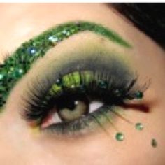 This was my inspiration for my St Patrick's Day makeup