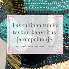 Taskullinen tunika - taskun kaavoitus ja ompeluohje Sewing Hacks, Sewing Tips, Diy, Tunic, Bricolage, Do It Yourself, Homemade, Diys, Crafting